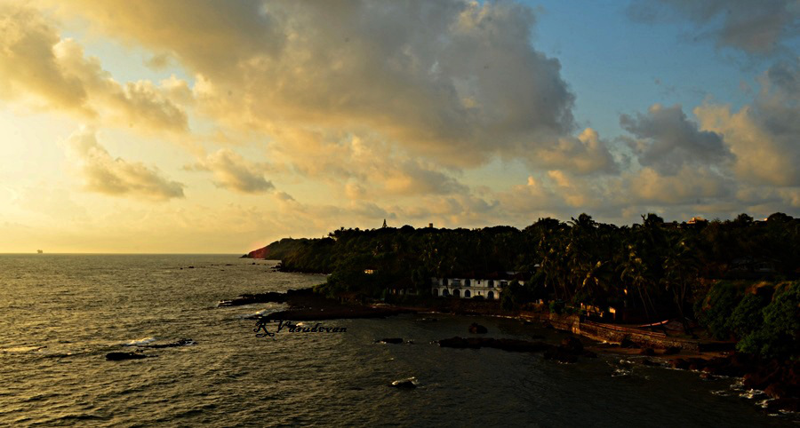 from top of Dona Paula, Goa