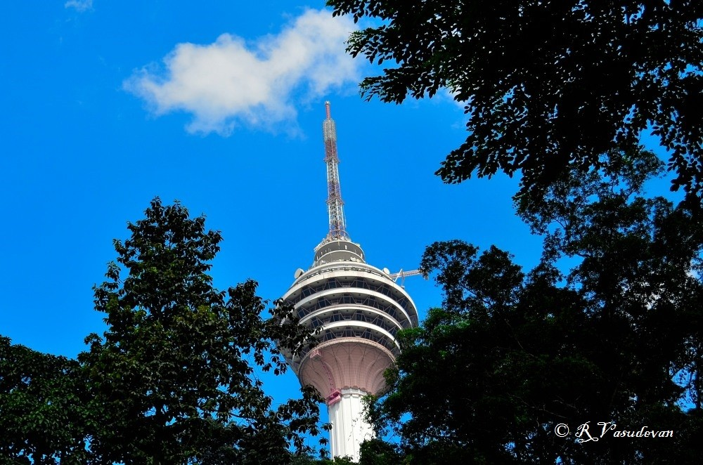 KL Tower or Menara KL , a view from Dang Wangi